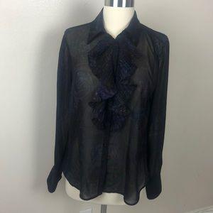 Lauren by Ralph Lauren button up dress shirt